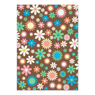 """cool vintage floral colourful pattern 5"""" x 7"""" invitation card"""