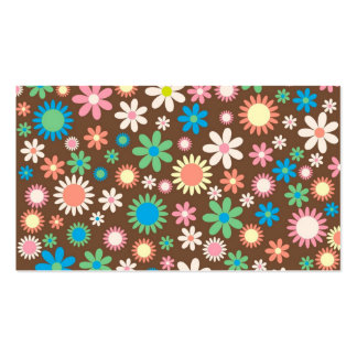 cool vintage floral colourful pattern business cards