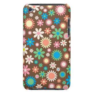 cool vintage floral colourful pattern iPod touch case