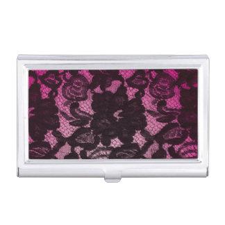 Cool Vintage Floral Flower Lace Business Card Holder