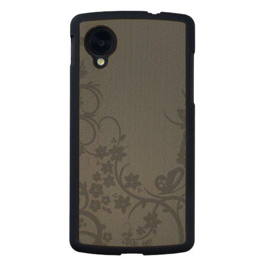 Cool Vintage Floral Pattern by storeman Carved® Maple Nexus 5 Slim Case