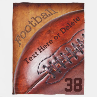 Cool Vintage Football Throw Blanket PERSONALIZED