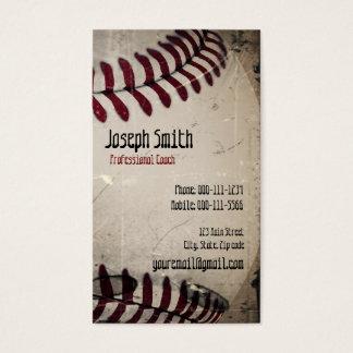 Cool Vintage Grunge Baseball Business Card
