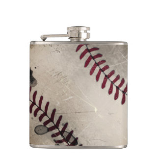 Cool Vintage Grunge Baseball Flask