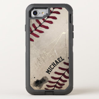 Cool Vintage Grunge Baseball Personalized OtterBox Defender iPhone 8/7 Case
