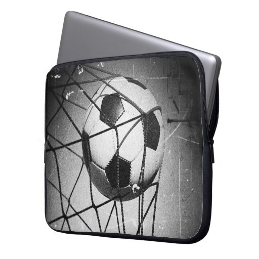 Cool Vintage Grunge Football in Goal Laptop Computer Sleeves