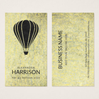 Cool Vintage Hot Air Balloon Pilot Balloonist Business Card