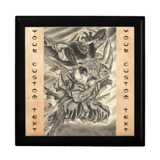 Cool vintage japanese demon samurai fight tattoo gift boxes