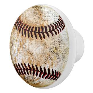 Cool Vintage Look Baseball Drawer Knobs and Pulls Ceramic Knob