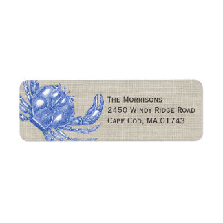 Cool Vintage Nautical Blue Crab Custom Beach