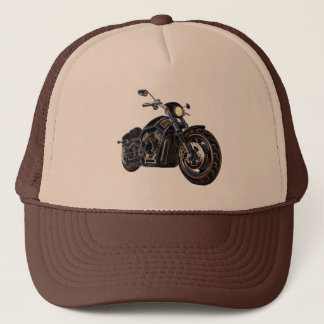 Cool Vintage Road Glowing Motorcycle Chopper Trucker Hat