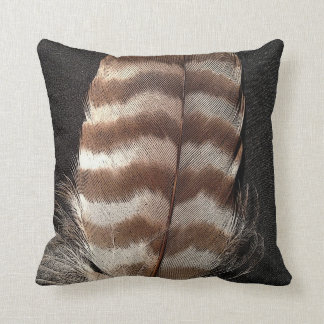 Cool vintage style feather design throw pillow