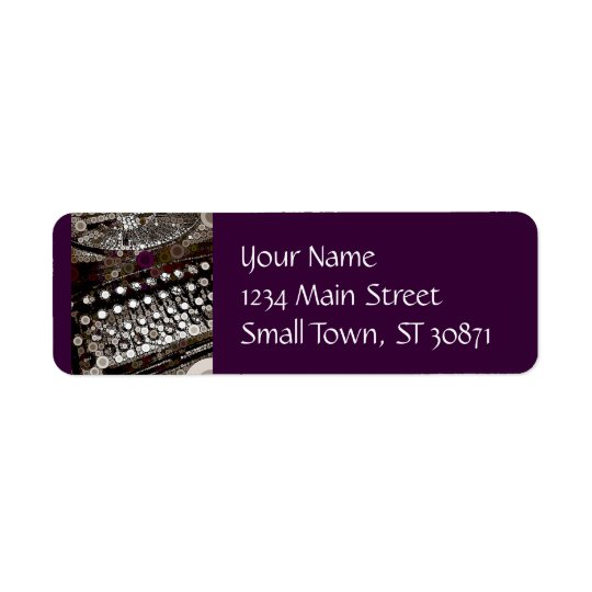 Cool Vintage Typewriter Modern Design Pop Art Return Address Label