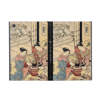 Cool vintage ukiyo-e japanese ladies and child iPad mini case