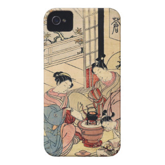 Cool vintage ukiyo-e japanese ladies and child iPhone 4 cover