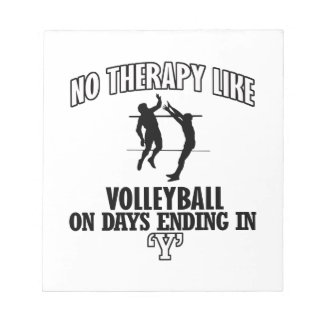 cool Volleyball DESIGNS Notepads