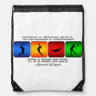Cool Volleyball It Is A Way Of Life Drawstring Bag
