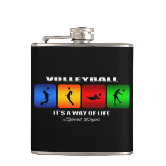 Cool Volleyball It Is A Way Of Life Flask