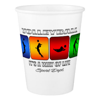 Cool Volleyball It Is A Way Of Life Paper Cup