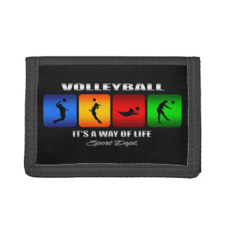 Cool Volleyball It Is A Way Of Life Trifold Wallets