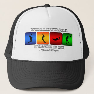 Cool Volleyball It Is A Way Of Life Trucker Hat