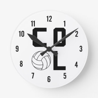 Cool Volleyball Round Clock