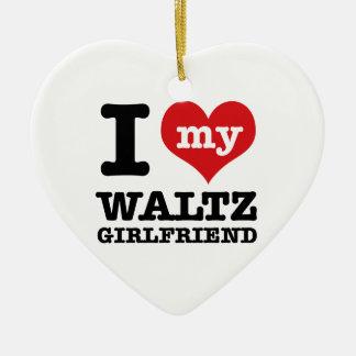 Cool Waltz designs Ceramic Heart Ornament