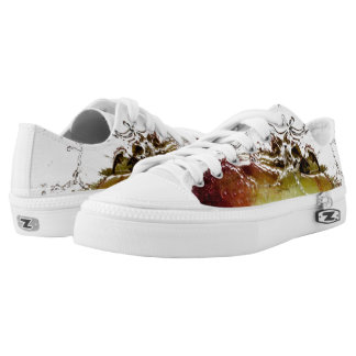 Cool water drop splash on apple Low-Top sneakers