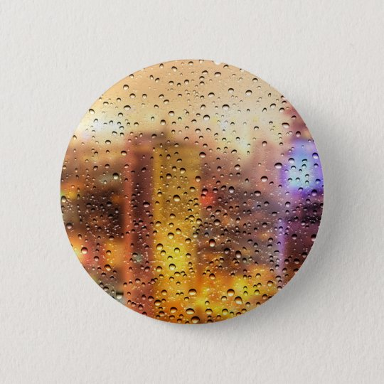 Cool water drops background texture design 2 inch round button