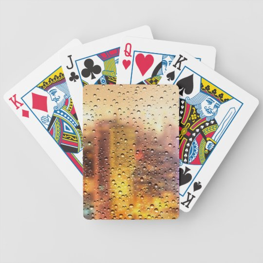 Cool water drops background texture design bicycle playing cards