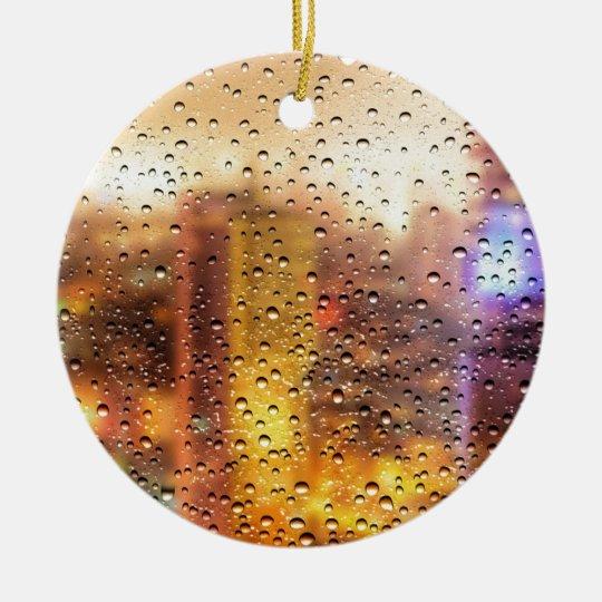 Cool water drops background texture design ceramic ornament