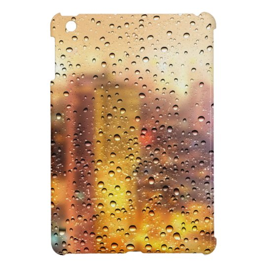 Cool water drops background texture design cover for the iPad mini