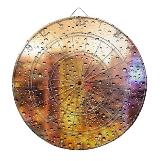 Cool water drops background texture design dartboard