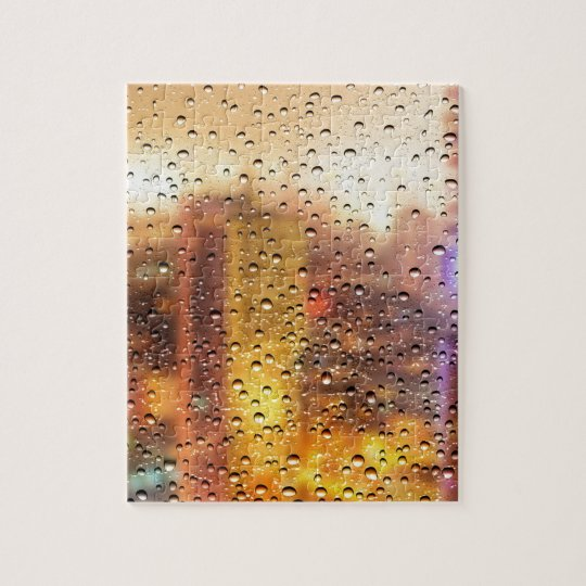 Cool water drops background texture design jigsaw puzzle