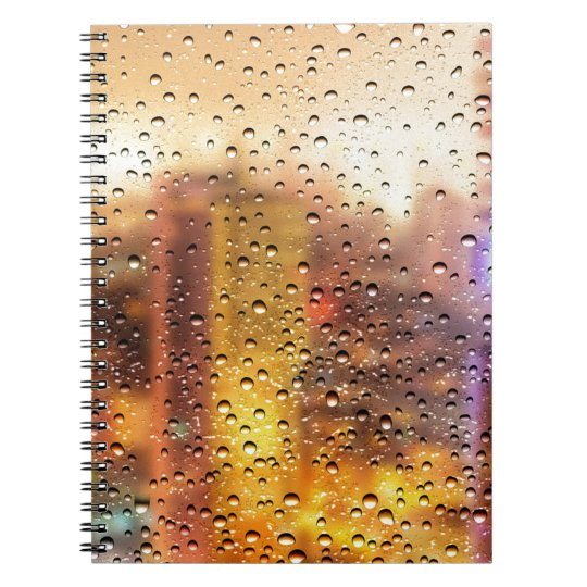 Cool water drops background texture design notebook