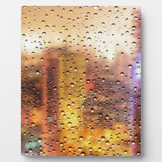Cool water drops background texture design plaque