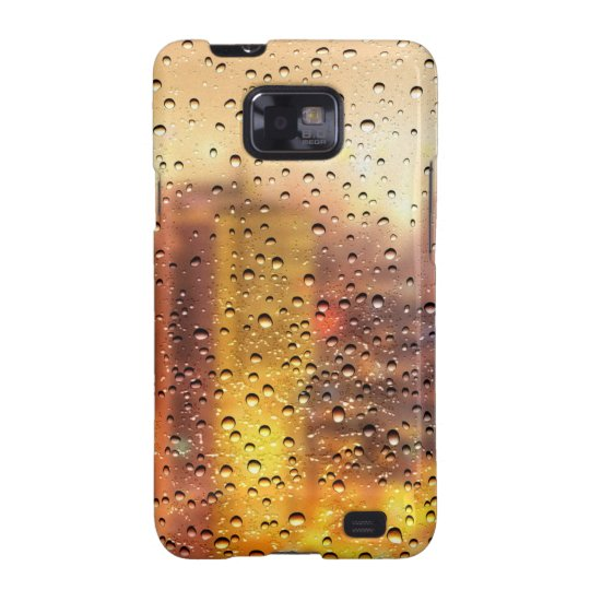 Cool water drops background texture design samsung galaxy SII case