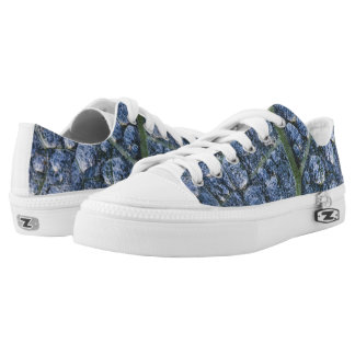 Cool water drops dew texture leaf Low-Top sneakers