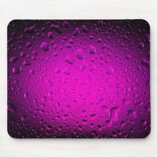 Cool water drops pink mouse pad