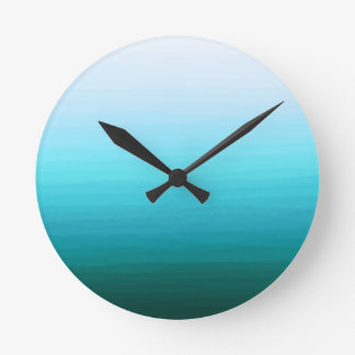 Cool Water Round Clock
