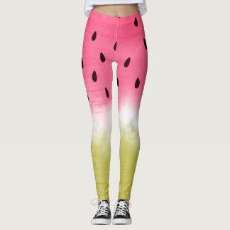 Cool watercolor watermelon leggings