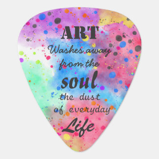 Cool watercolour famous quote guitar pick