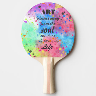 Cool watercolour famous quote ping pong paddle