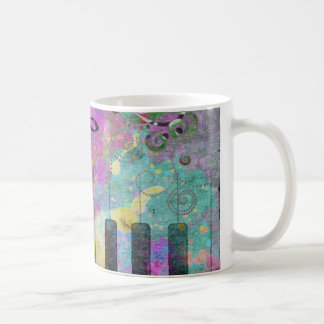 Cool watercolours splatters colourful piano coffee mug