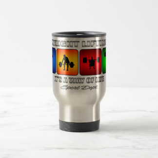 Cool Weight Lifting It Is A Way Of Life Travel Mug