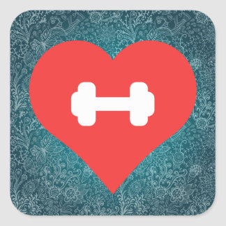 Cool Weightlifting Training Pictograph Square Sticker