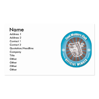 Cool Welders Club Business Card Templates