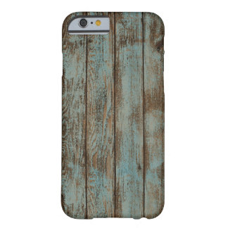 cool western country blue barn wood woodgrain barely there iPhone 6 case