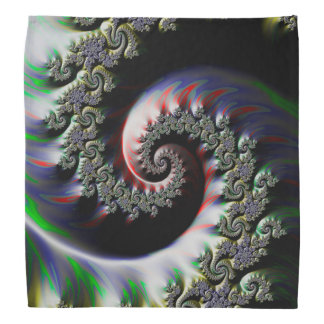 Cool Wet Paint Fractal Swirl of RGB Primary Colors Bandana