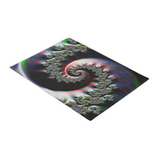 Cool Wet Paint Fractal Swirl of RGB Primary Colors Doormat